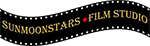 SunMoonStars logo of a wavy film strip with a bindi in the center.